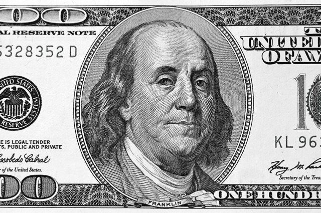 100$ купюра с портретом Франклина