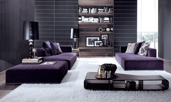 значение фиолетового цвета в интерьере