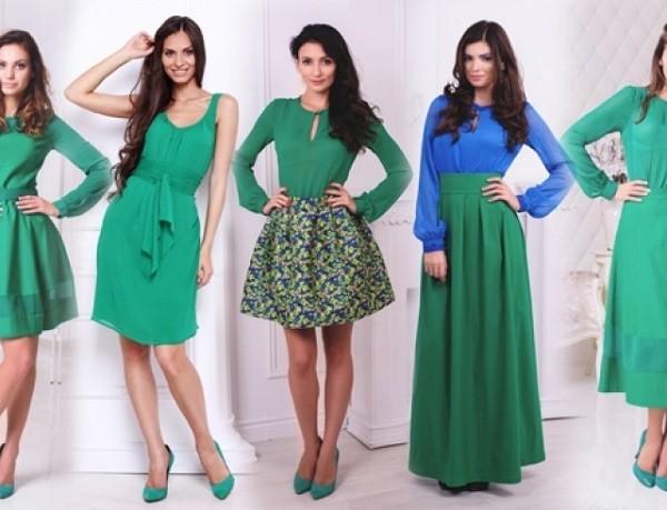 Зеленый в одежде