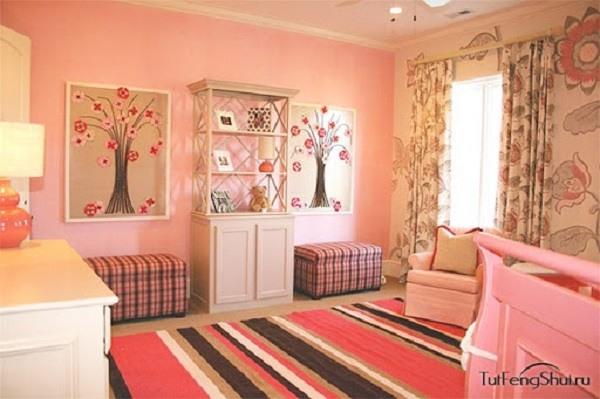 значение розового цвета в интерьере