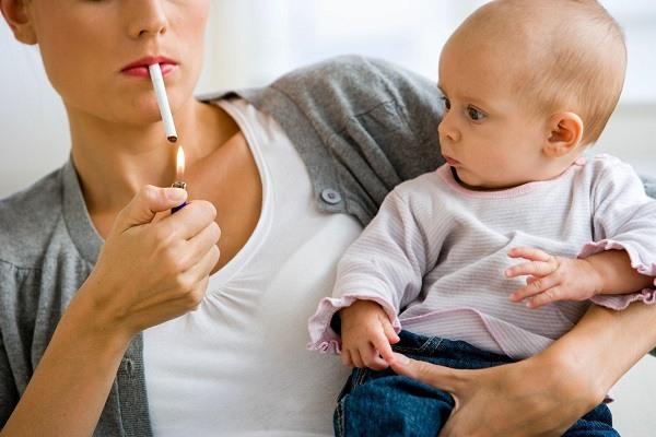 Вредные привычки матери