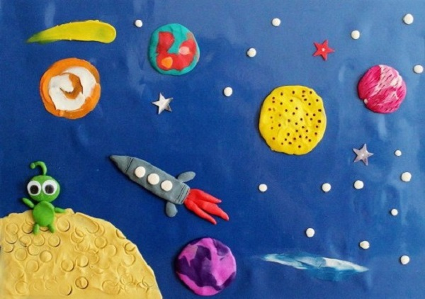 пластилинография для детей 3-4 лет