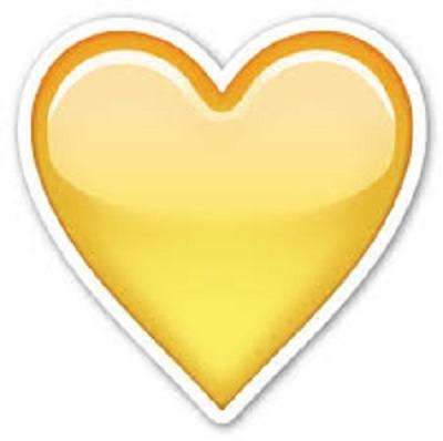 смайлик желтое сердечко